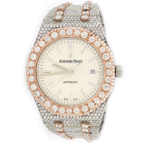 Audemars Piguet Royal Oak 41mm Iced Out 21.5Ct Diamond Watch 15500ST.OO.1220ST.04