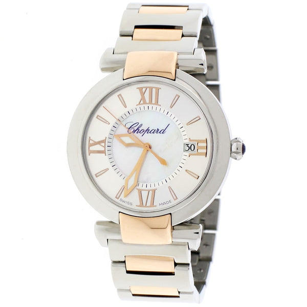 Chopard Imperiale 2-Tone 18K Rose Gold & Stainless Steel Factory Mother of Pearl Dial 36MM Watch 388532-6002