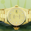 Rolex President Day-Date 18K Yellow Gold Original Champagne Diamond Dial 36MM Automatic Mens Watch 18238