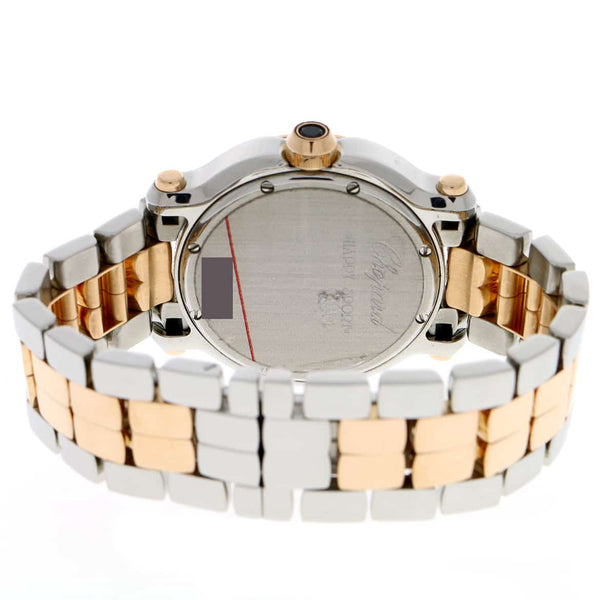 Chopard Happy Sport Round Medium 7-Floating Diamonds 2-Tone 18K Rose Gold/Stainless Steel 36MM Watch 278488-9001