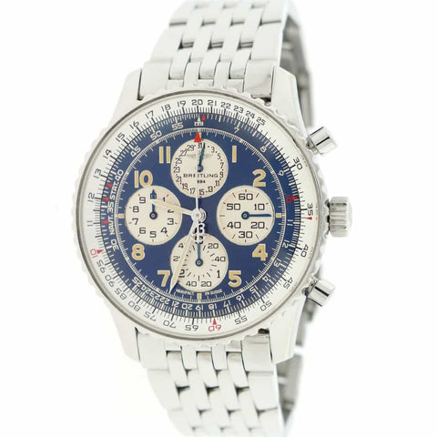 Breitling Navitimer Airborne 38MM Blue Dial Calendar Chronograph Automatic Stainless Steel Watch A33030