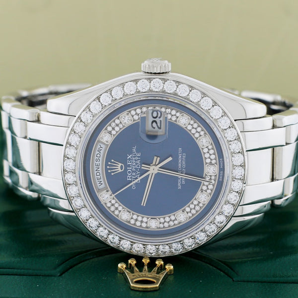 Rolex Day-Date Special Edition Masterpiece Platinum Factory Myriad Diamond Dial & 40 Diamond Bezel 39MM Automatic Watch 18946