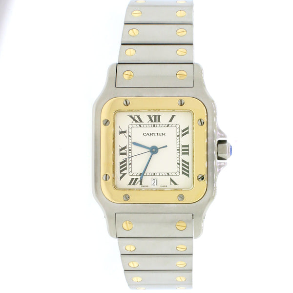Cartier Santos Galbée 29mm 1566 2-tone 18K Yellow Gold/Stainless Quartz watch Box Papers