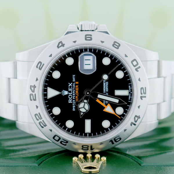 Rolex Explorer II 42MM Black Dial Automatic Stainless Steel Mens Oyster Watch 216570