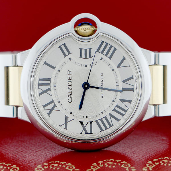 Cartier Ballon Bleu Midsize 2-Tone 18K Yellow Gold & Stainless Steel 36MM Automatic Mens Watch W6920047