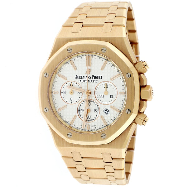 Audemars Piguet Royal Oak 18K Rose Gold 41MM Index Dial Chronograph Automatic Mens Watch 26320OR.OO.1220OR.02 w/Box&Papers