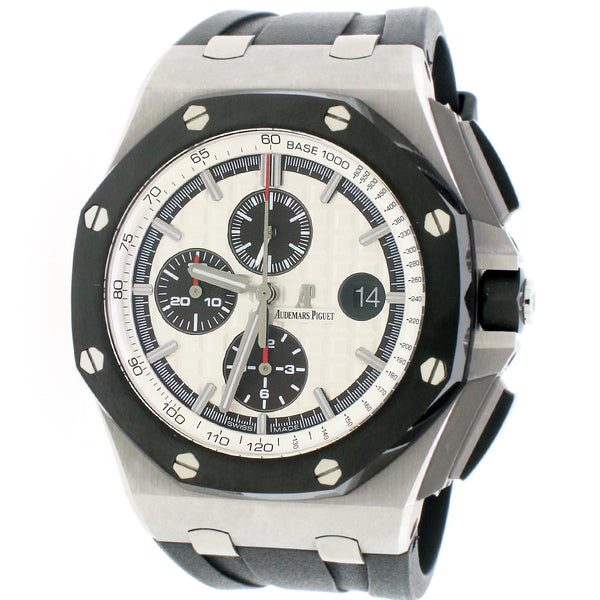 Audemars Piguet Royal Oak Offshore Steel/Ceramic Chronograph 42MM Automatic Mens Watch Box Papers 26400SO.OO.A002CA.01