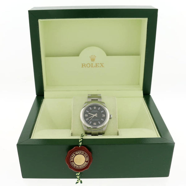 Rolex Oyster Perpetual 31MM Black Dial Automatic Stainless Steel Oyster Watch 177200