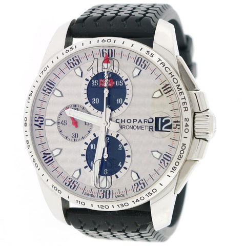 Chopard Mille Miglia Gran Turismo XL Chronograph World Limited 2010 Silver Dial 44MM Steel Mens Watch 16/8459