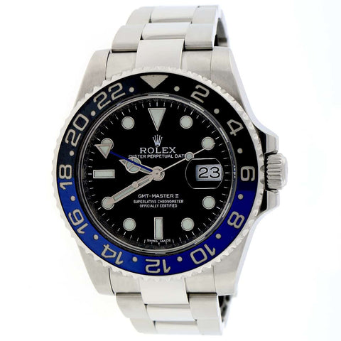 2018 Rolex GMT-Master II Batman Ceramic Bezel 40MM Black Dial Automatic Stainless Steel Mens Watch 116710