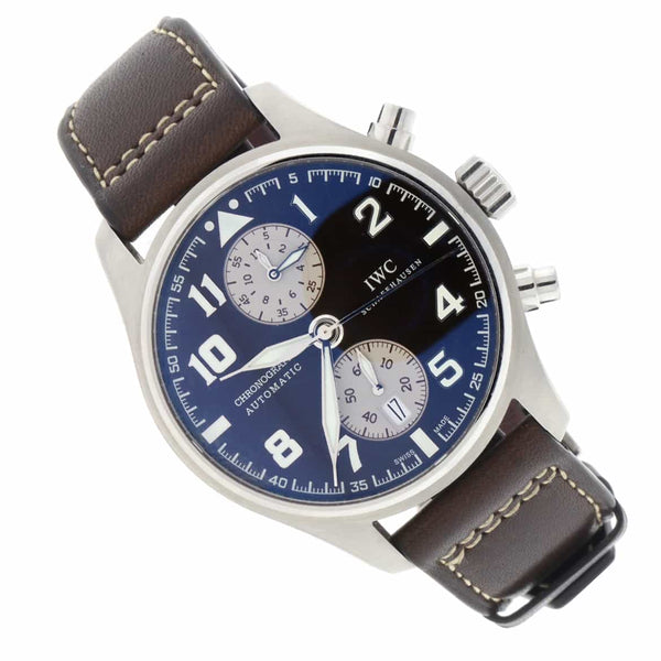 IWC Pilot's Antoine de Saint Exupery Chronograph Automatic Stainless steel Mens Watch IW387806