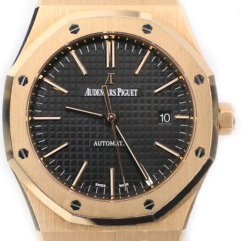 Audemars Piguet Royal Oak 41mm Rose Gold Watch/Black Dial/Box/Papers/15400OR.OO.D002CR.01