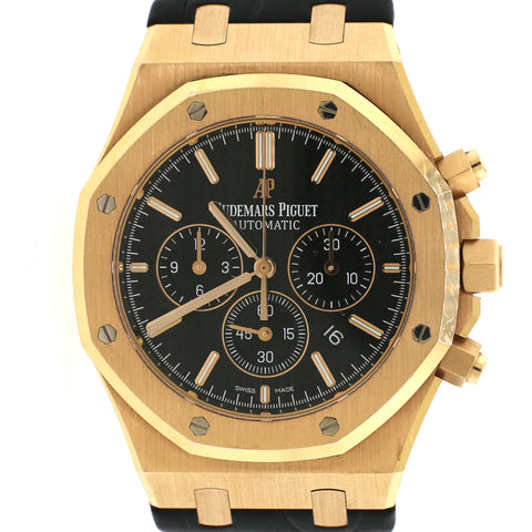 Audemars Piguet Royal Oak 41mm Chronograph Rose Gold/Black Dial/Box&Papers/26320OR.OO.D002CR.01
