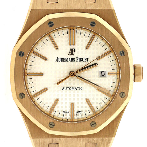 Audemars Piguet Royal Oak Rose Gold 41mm Watch 15400OR.OO.1220OR.02