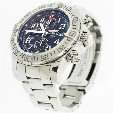 Breitling Super Avenger II Black Dial 48mm Steel Watch A1337111/BC28