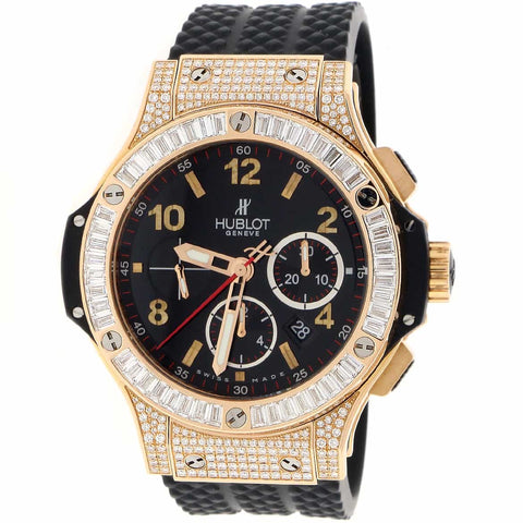 Hublot Big Bang Evolution 18K Rose Original Diamond Bezel 44MM Chronograph Automatic Mens Watch