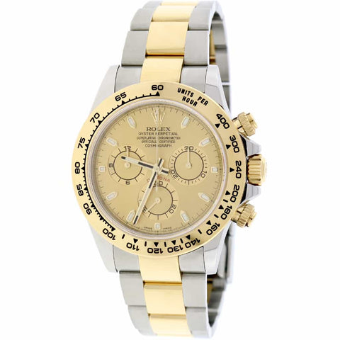 2017 Rolex Cosmograph Daytona 2-Tone 18K Yellow Gold/Stainless Steel 40mm Automatic Oyster Mens Watch 116503