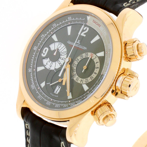 Jaeger-Le Coultre Master Compressor 18K Rose Gold 42MM Chronograph Automatic Mens Watch