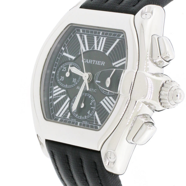 Cartier Roadster Chronograph XL Automatic Stainless Steel Mens Watch W62020X6