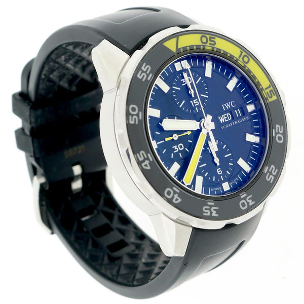 IWC Aquatimer Chronograph Day Date Automatic Stainless Steel 44MM Mens Watch IW376702