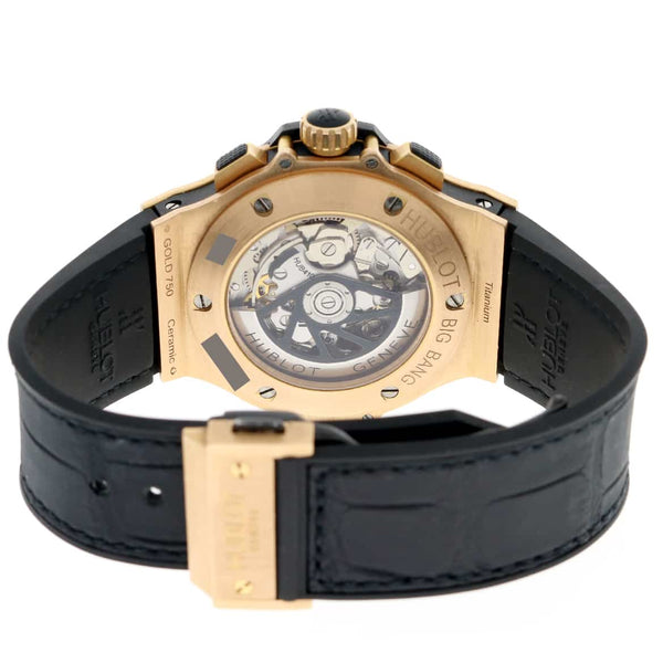 Hublot Big Bang 18K Rose 44MM Chronograph Automatic Mens Watch 301.PX.1180.RX