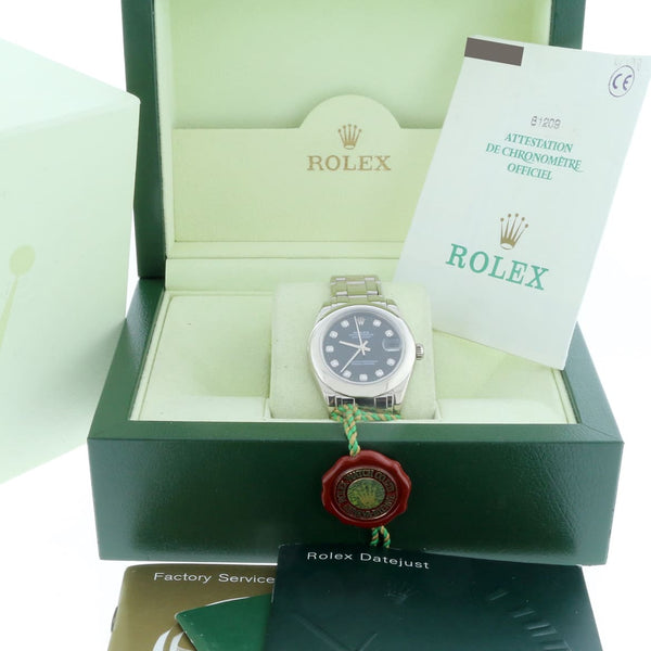 Rolex Pearlmaster Masterpiece Original Diamond Dial 18K White Gold 34MM Automatic Watch 81209