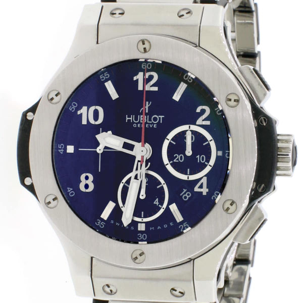 Hublot Big Bang Evolution Chronograph Stainless Steel Black Dial Automatic Mens Watch 301.SX.130.RX w/ Box Papers
