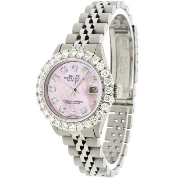 Rolex Datejust Ladies 26mm Automatic Steel Jubilee Watch, 1.96ct Diamond Bezel