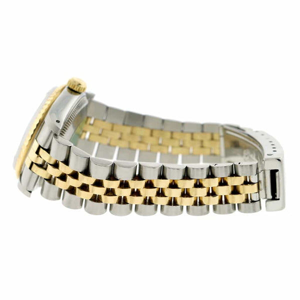 Rolex Datejust 2-Tone 18K Yellow Gold/Stainless Steel Original Champagne Roman Dial 31mm Womens Jubilee Watch 68273