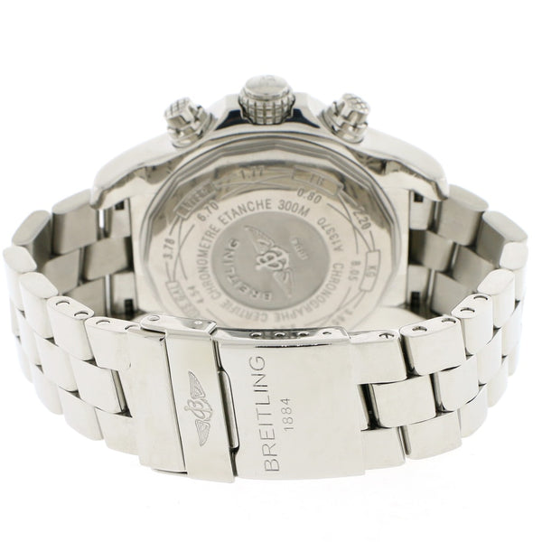 Breitling Super Avenger 49MM Chronograph White Dial Automatic Stainless Steel Mens Watch A13370