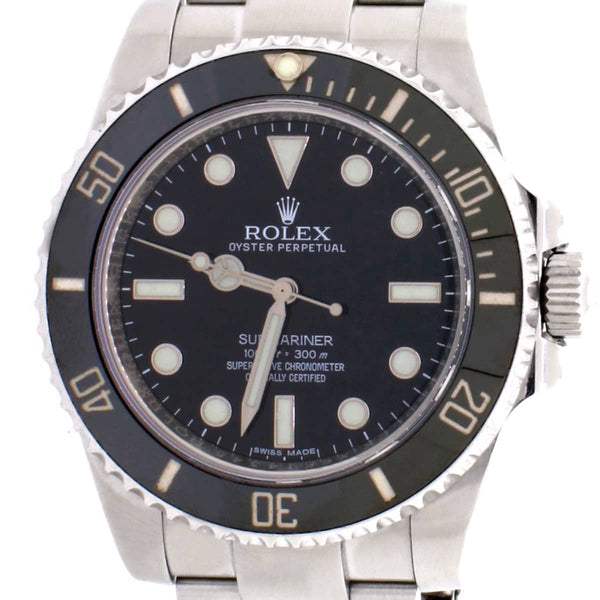 Rolex Submariner Black Dial 40MM Ceramic Bezel Automatic Stainless Steel Oyster Mens Watch 114060