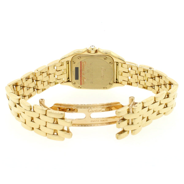 Cartier Panthere 18K Yellow Gold Factory Diamond 22mm Ladies Watch 1280 2