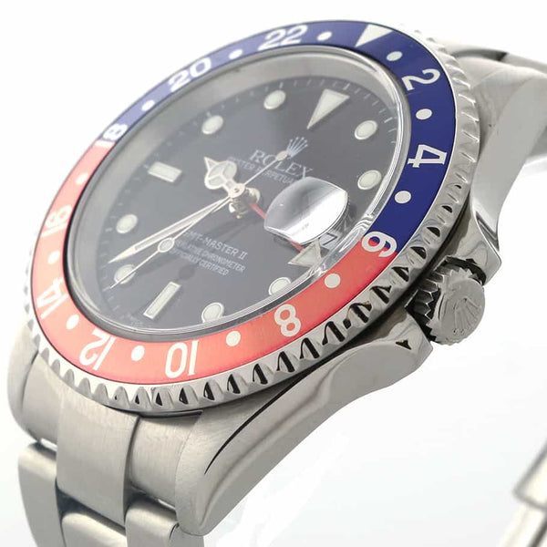 Rolex GMT-Master II Pepsi Bezel 40MM Automatic Stainless Steel Mens Watch 16710