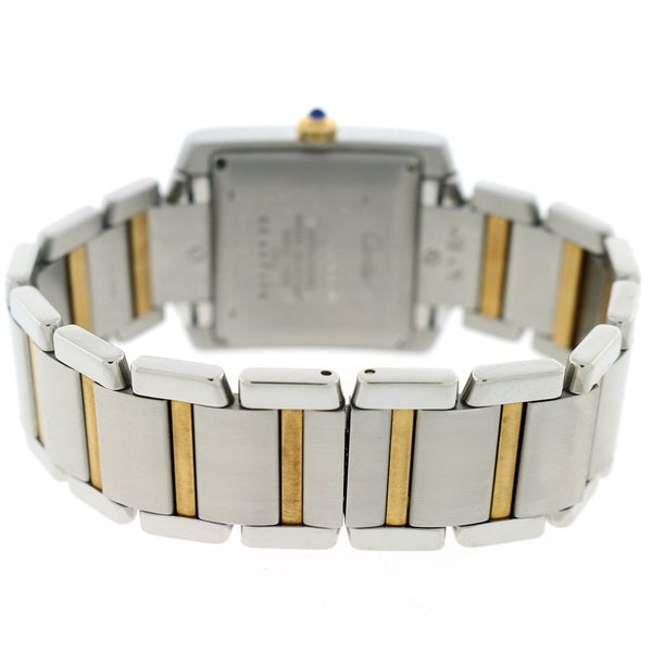 Cartier Tank Francaise Large 2-Tone 18K Yellow Gold & SS 28MM Silver Roman Dial Automatic Watch W51005Q4 w/Box&Papers