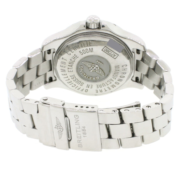 Breitling Colt Oceane 33MM Factory Silver Stick Dial Stainless Steel Ladies Quartz Watch A77380