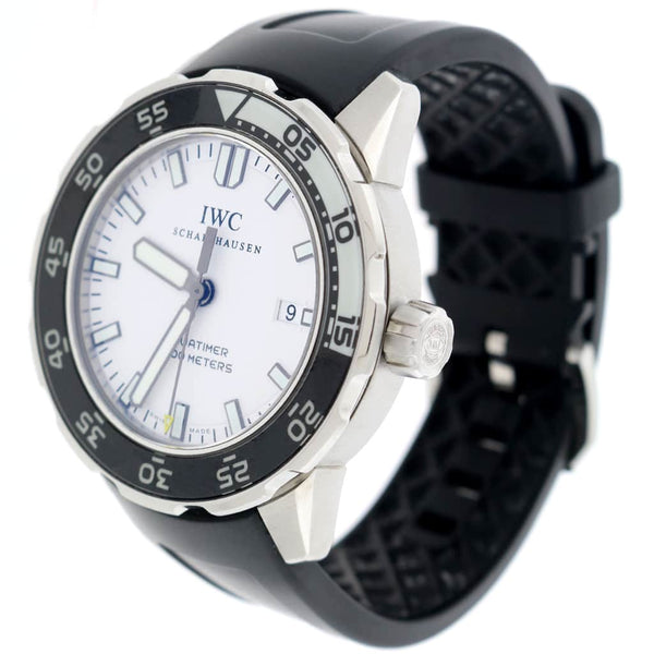 IWC Aquatimer White Dial Luminescent Bezel 44MM Automatic Stainless Steel Mens Watch IW356809