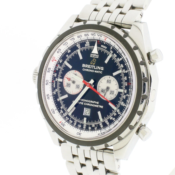 Breitling Chrono-Matic 44MM Automatic Chronograph Stainless Steel Mens Watch A41360