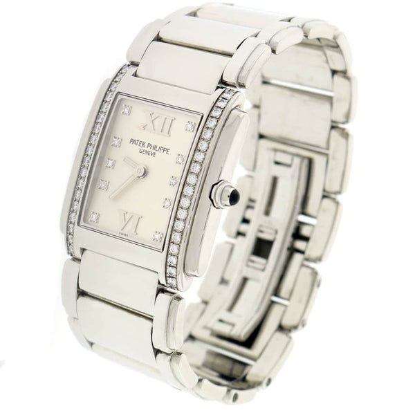 Patek Philippe Twenty-4 Factory Diamond Bezel & Diamond Dial Stainless Steel Ladies Watch 4910-10A-011
