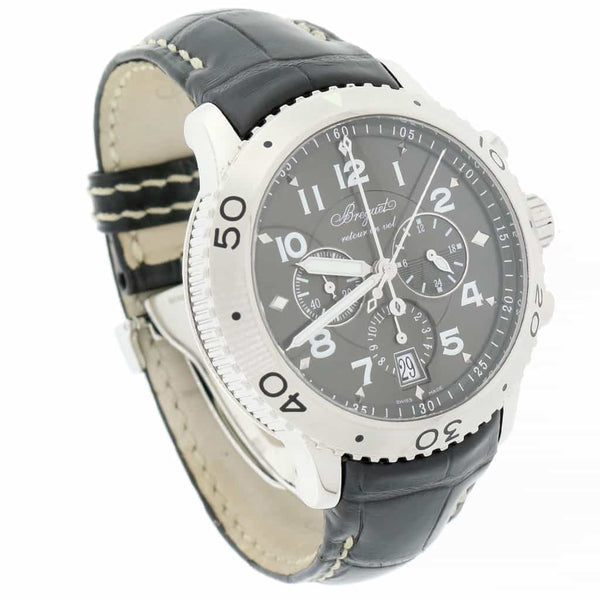 Breguet Type XXI Flyback 43MM Chronograph Automatic Stainless Steel Mens Watch 3810