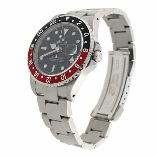 Rolex GMT-Master II Coke Bezel 40MM Black Dial Automatic Stainless Steel Mens Watch 16710
