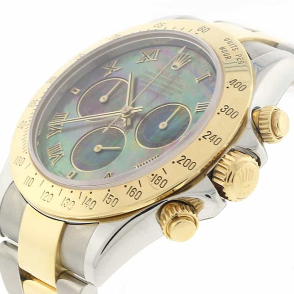 Rolex Cosmograph Daytona 2-Tone 18K Yellow Gold & Stainless Steel Original MOP Dial 40MM Automatic Mens Watch 116523