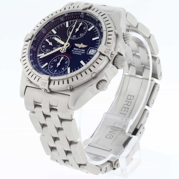 Breitling Chronomat Blackbird Chronograph 40mm Automatic Stainless Steel Mens Watch A13350