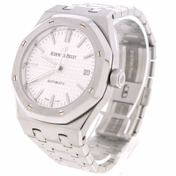 Audemars Piguet Royal Oak 37MM Original Silver Index Dial Automatic Stainless Steel Mens Watch 15450ST.OO.1256ST.01.A