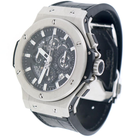 Hublot Big Bang Aero Bang Black Skeleton Dial 44MM Chronograph Automatic Stainless Steel Watch 311.SX.1170.GR