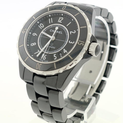 Chanel J12 38MM Automatic Black Ceramic Watch H0685