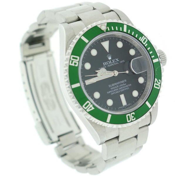 Rolex Submariner 'Anniversary' Green Bezel 40mm Automatic Stainless Steel Oyster Mens Watch 16610