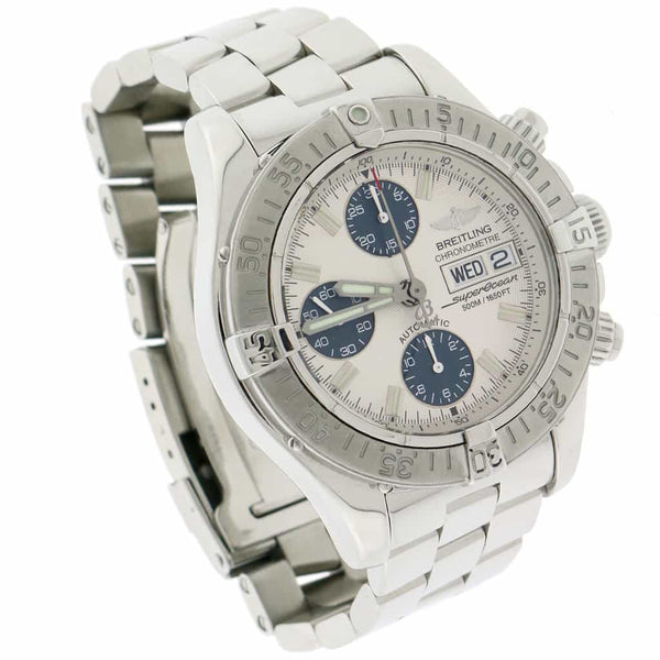 Breitling Chrono SuperOcean Day Date Cream Dial 42MM Automatic Stainless Steel Mens Watch A13340