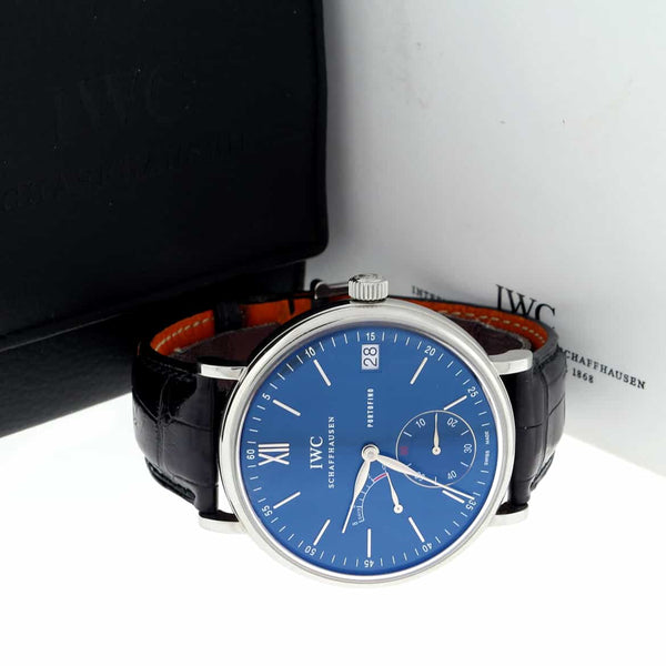 IWC Portofino Eight Days Blue Dial 45MM Automatic Stainless Steel Mens Watch IW510106
