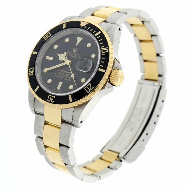 Rolex Submariner 2-Tone 18K Yellow Gold & Stainless Steel 40MM Automatic Mens Watch 16613