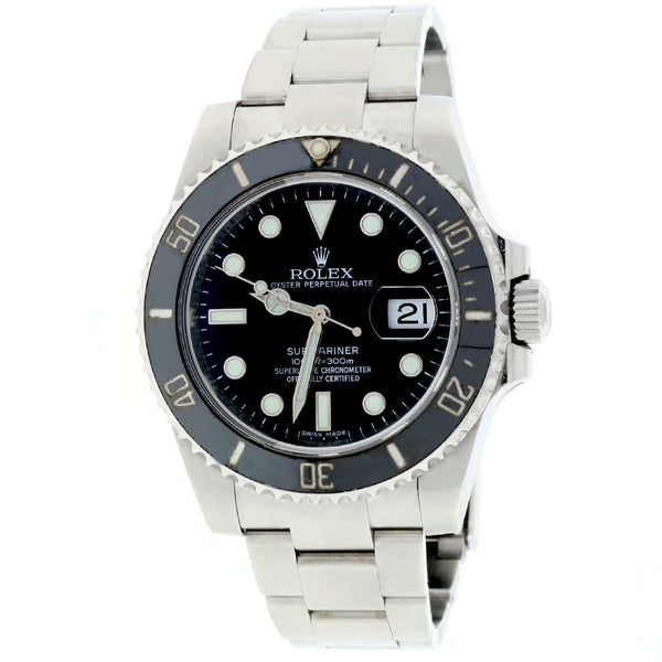 Rolex Submariner Date Ceramic Bezel Black Dial 40MM Automatic Stainless Steel Mens Watch 116610 Box&Papers